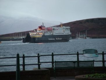The Clansman departs Oban