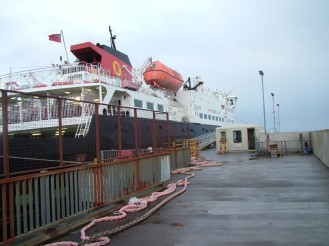 The Clansman Berthed
