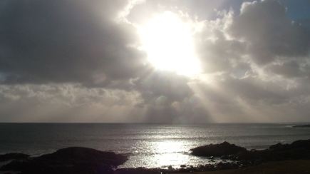 Sunbreak over Passage of Tiree