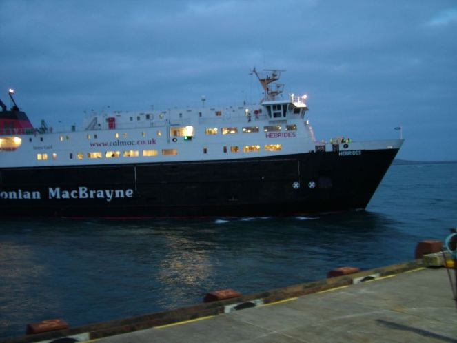 MV Hebrides approaching the Pier