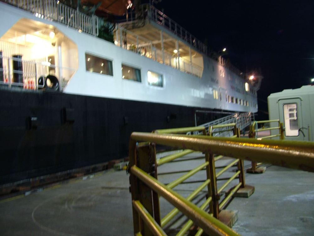 The gangway withdrawn and the doors secured