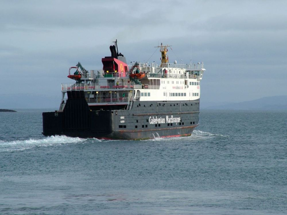 The MV 'Hebrides' sails for Coll and Oban