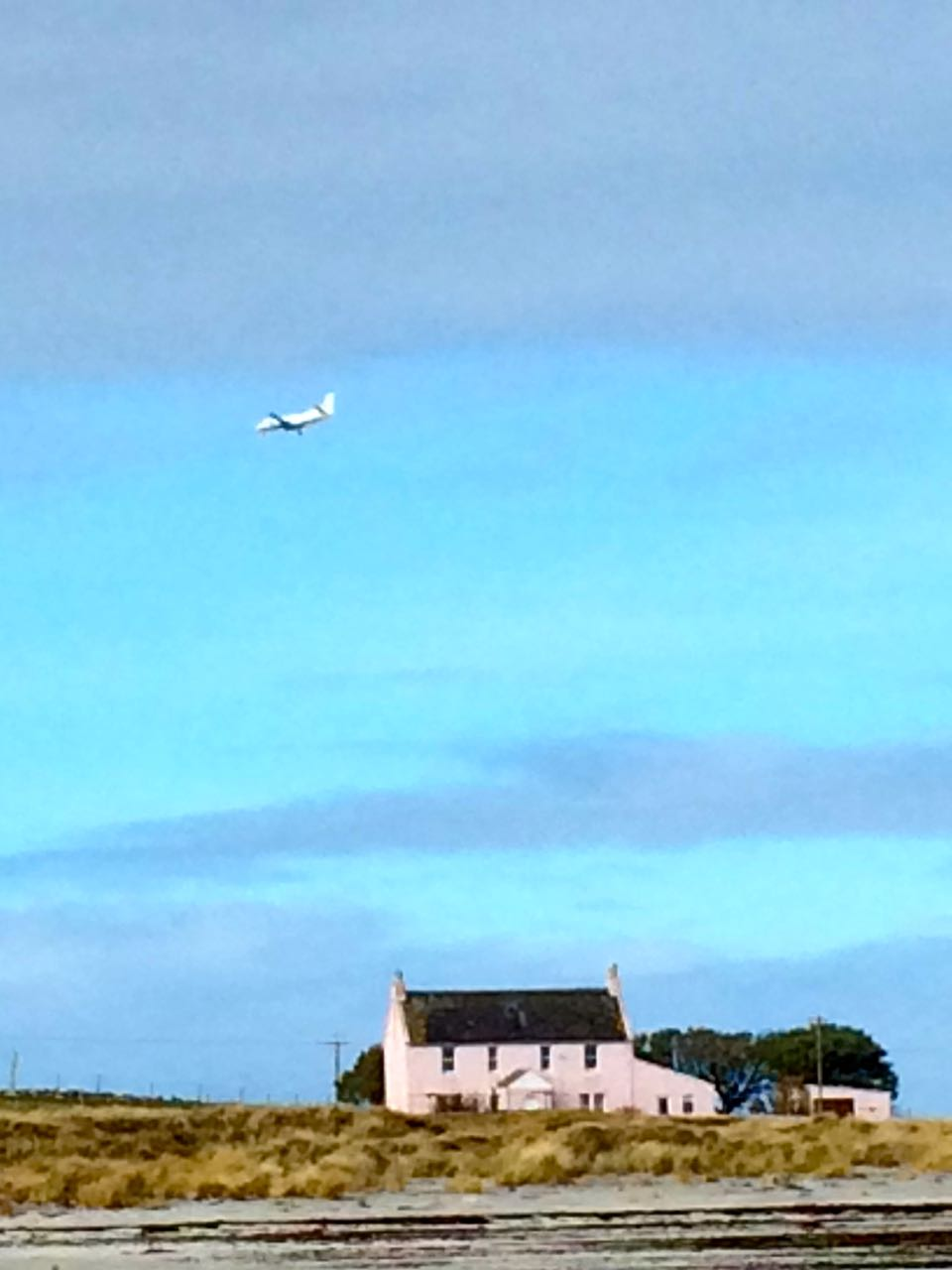 Noon arrival of Loganair's daily flight to Tiree from Glasgow