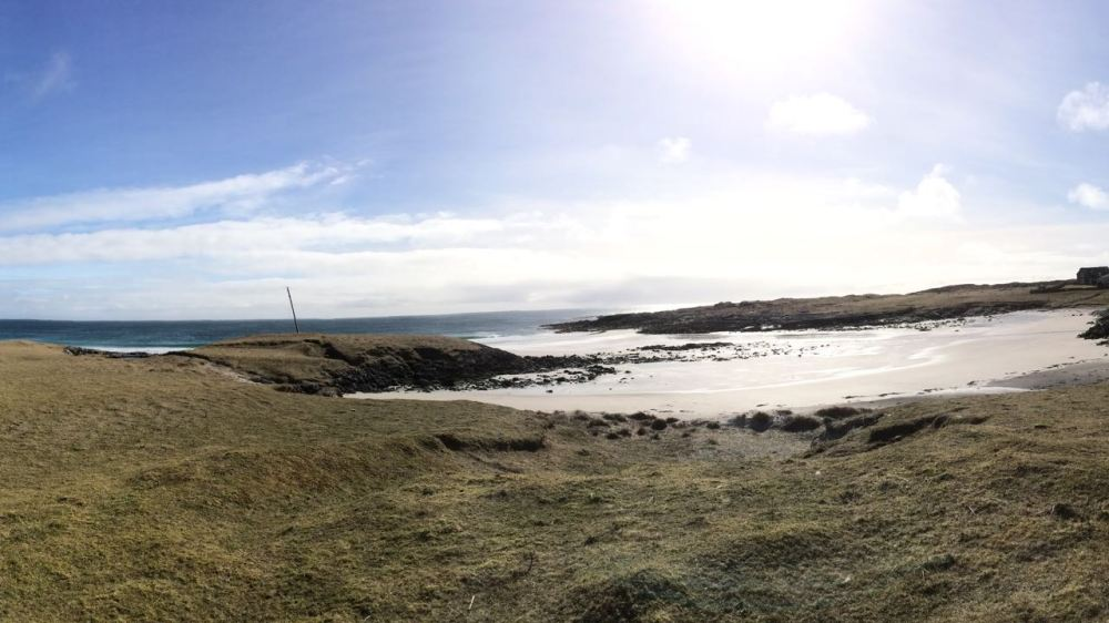 Panoramic View of Post Eclipse Scarinish