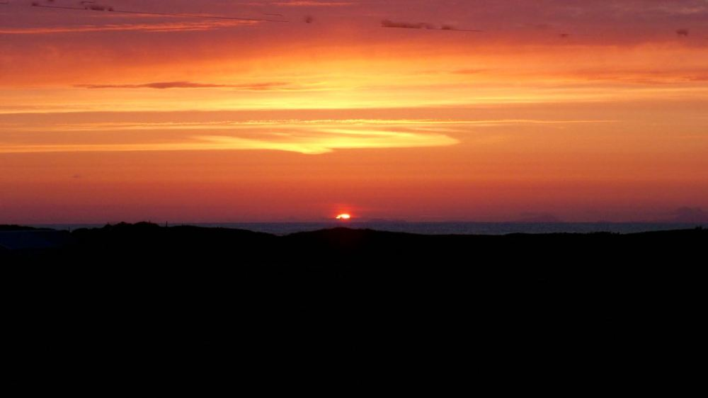 Sunset from Cornaig looking to Barra Head