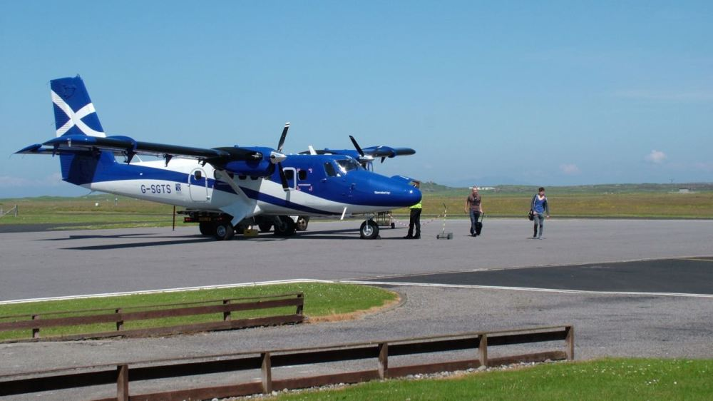 The New Twin Otter at Tiree Airport