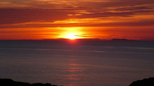 Sunset over the Outer Hebrides