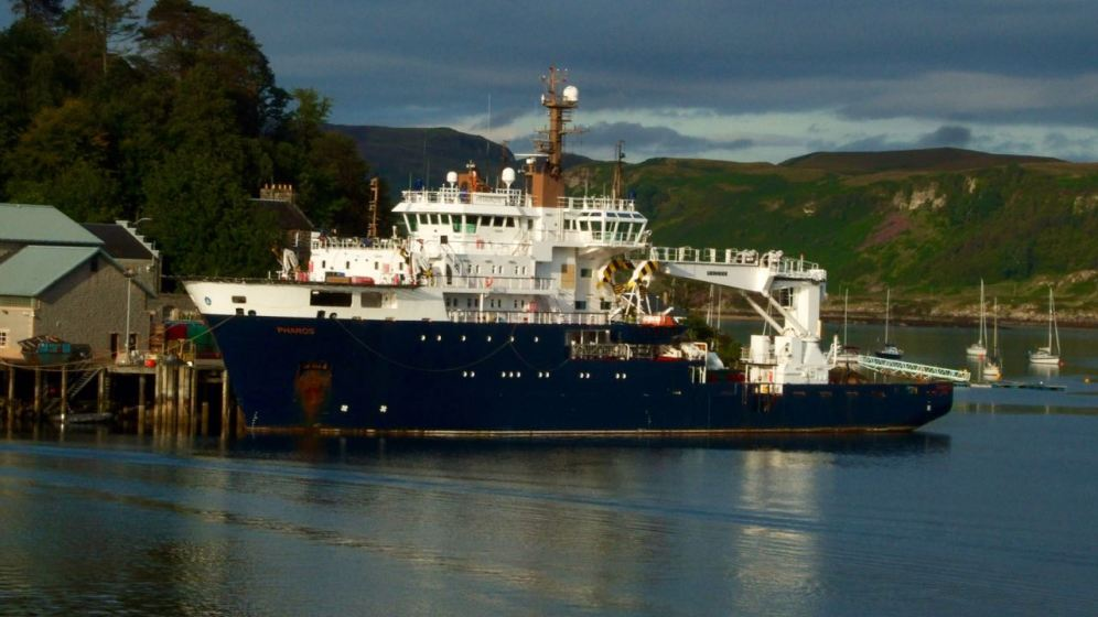 MV Pharos at her home base in Oban