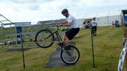 Clan Stunt Cyclist at Tiree Show