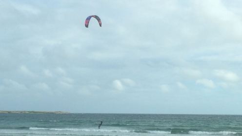 Kite surfer, Gott Bay