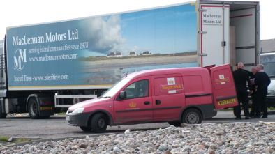 Postman four hard at work at the pier