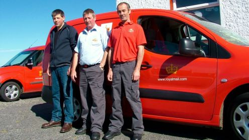 Three of our four postmen