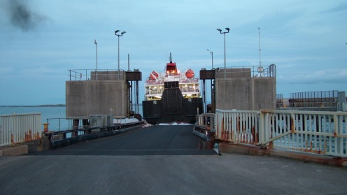 MV Clansman pulls away from the linkspan