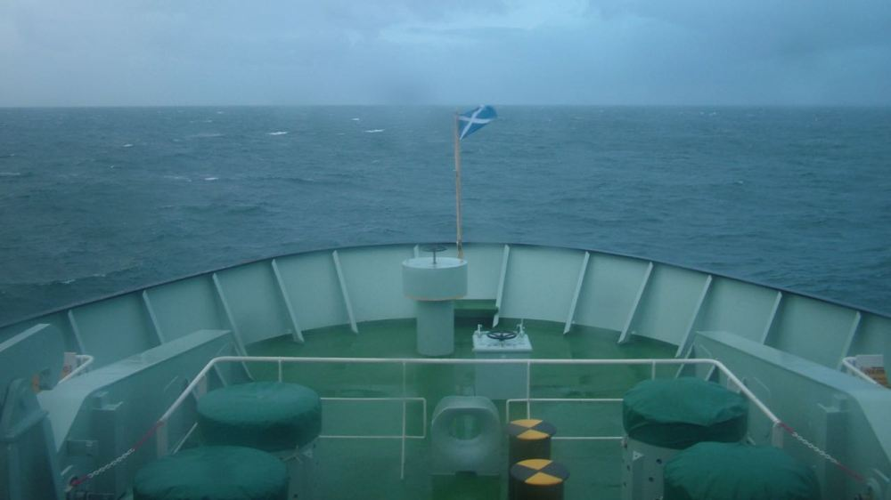 The Bow of the MV Clansman