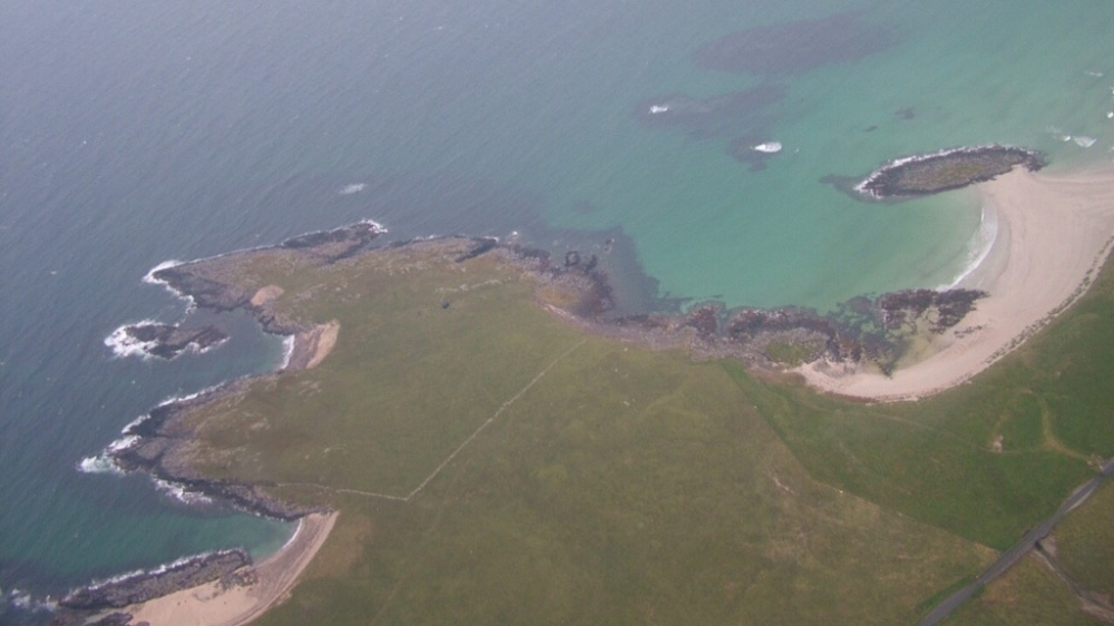Tiree from the plane
