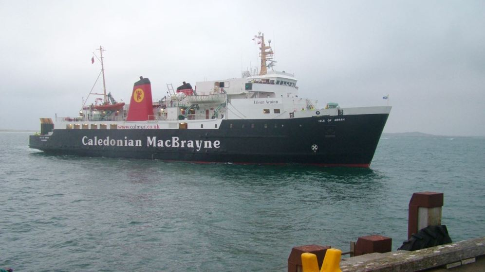 MV Isle of Arran at Tiree