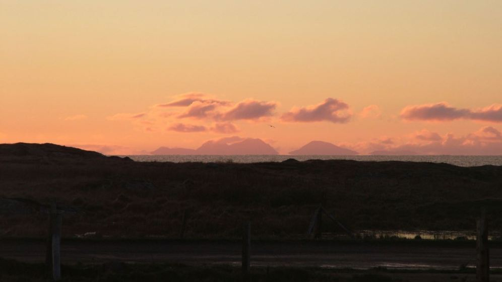 Paps of Jura - our breakfast time view