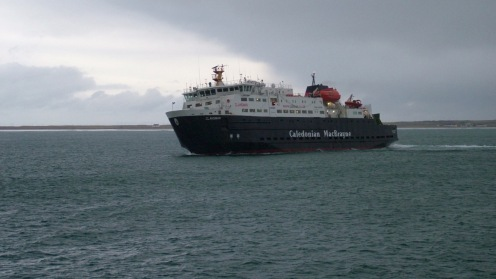 MV Clansman begins her approach