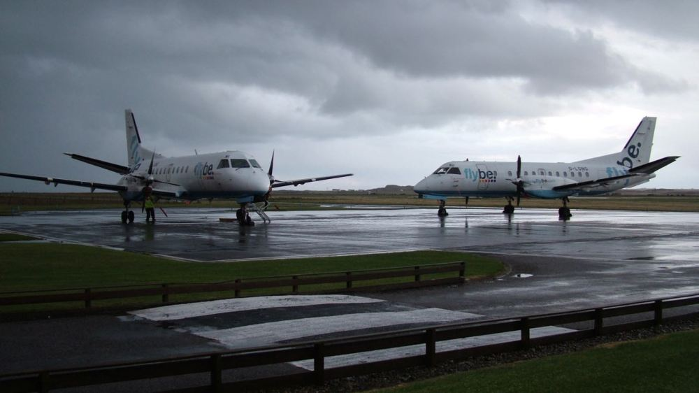 Two planes at the Airport
