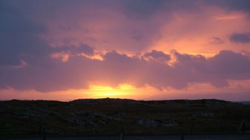The rising sun over the Passage of Tiree