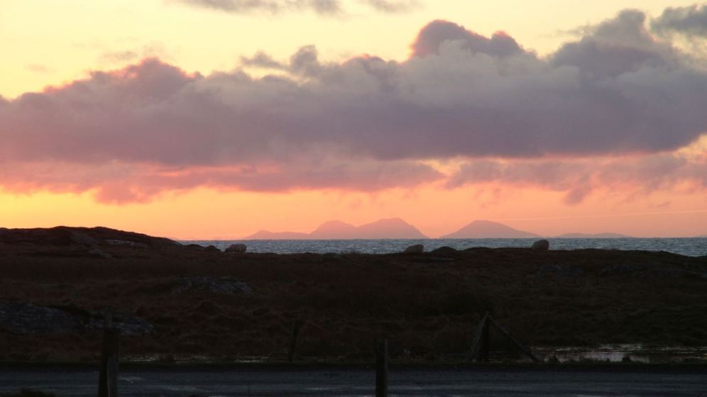 The Paps of Jura as the sun rises