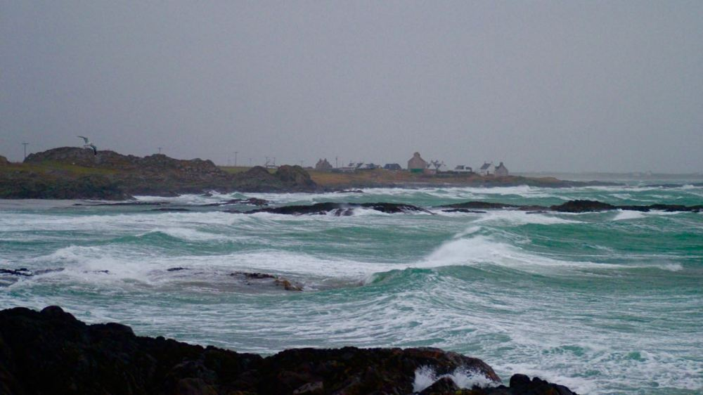 Hynish looking towards Manal on a stormy Boxing Day holiday
