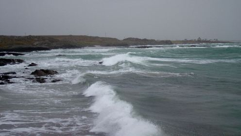 Stormy waters at Hynish
