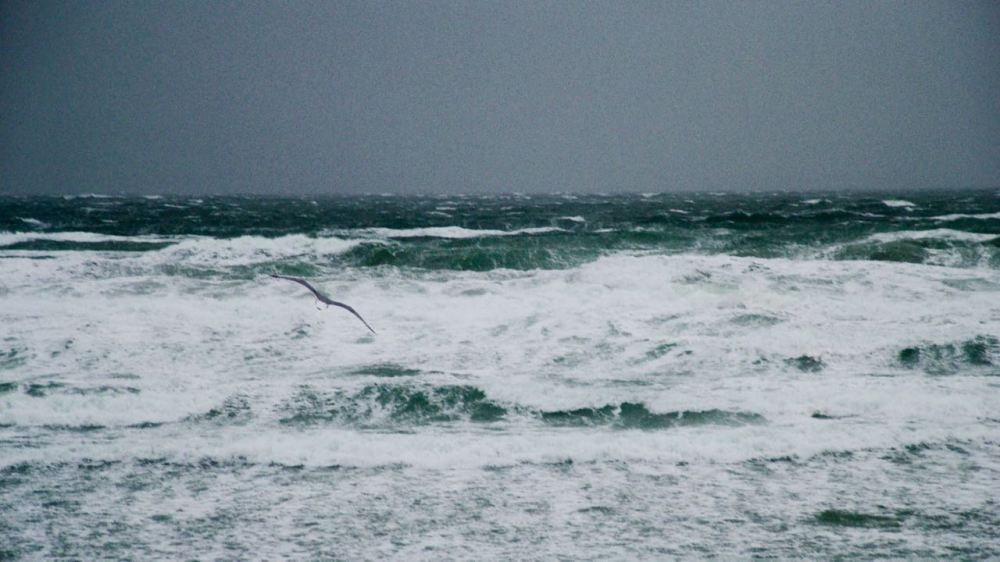 Stormy waters off Crossapol