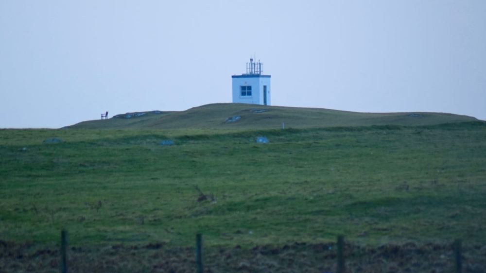 View from window of Scarinish lighthouse at first light