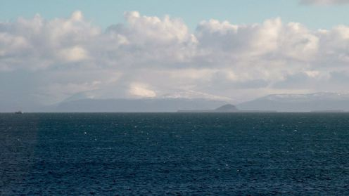 Looking over to he Isle of Mull