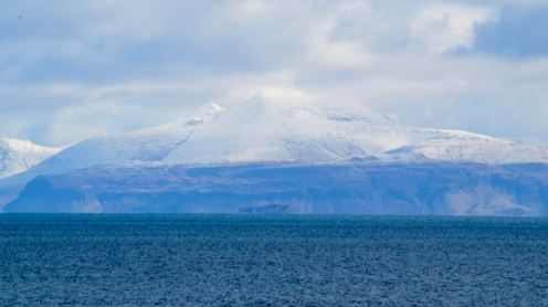 A snow capped Ben More on Mull