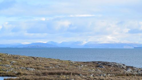 Looking towards the Isle of Mull
