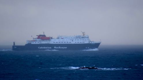 The Clansman in the Passage of Tiree off the headland at Milton