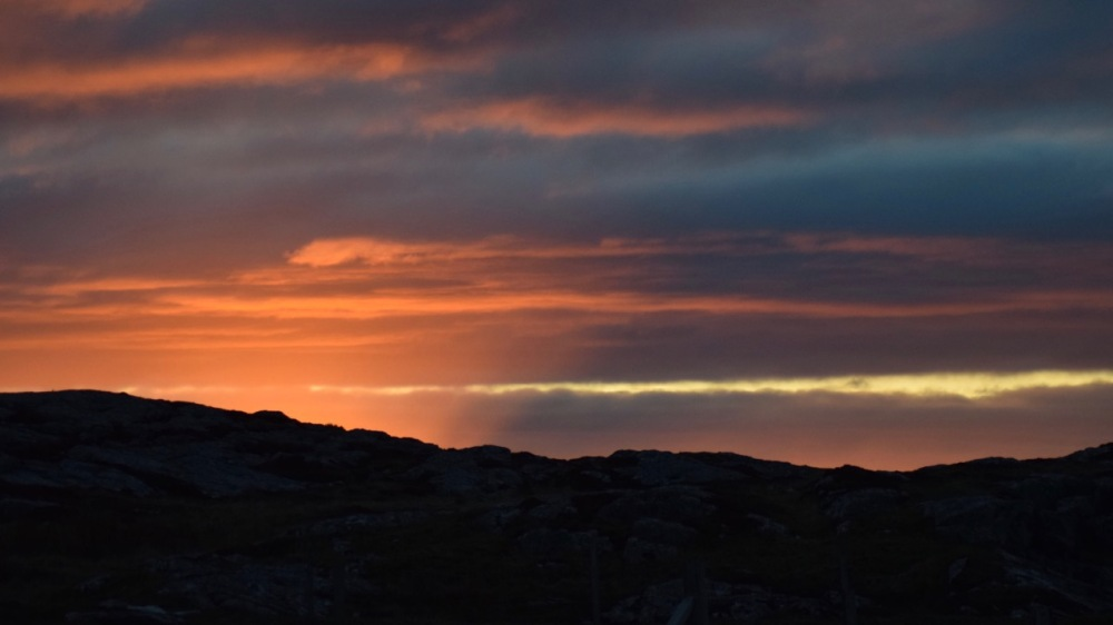 The hint of sunrise over the Scarinish headland