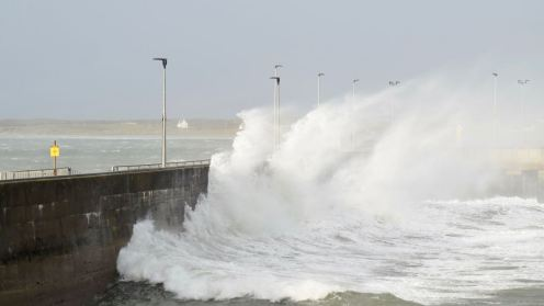 Tiree Pier on a Stormy Day