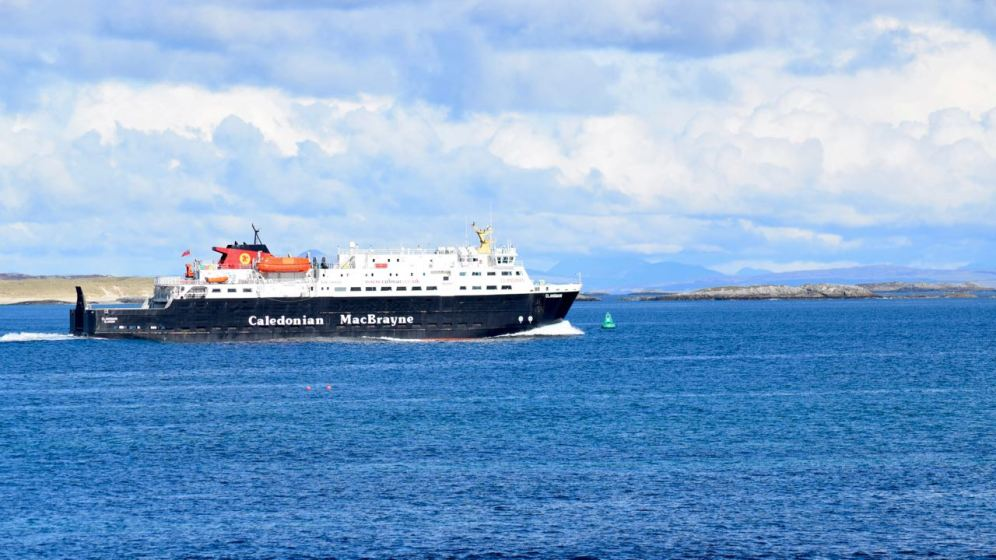 The Clansman in the Sound between Coll and Tiree