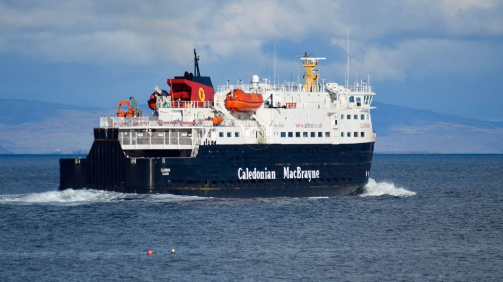 The Clansman heading out to sea for Coll and Oban