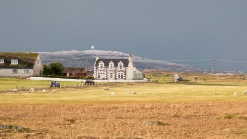 Scarinish to snow capped Ben Hynish