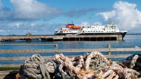 The Clansman at the Pier, Scarinish, Isle of Tiree- Barra Bound
