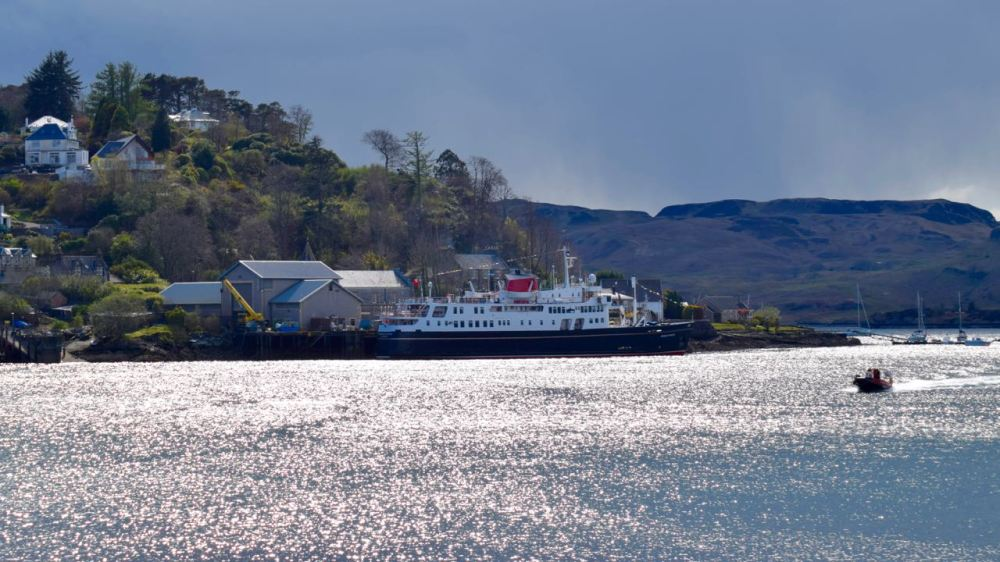 An sunlit Hebridean Princess