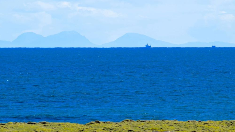 """Paps of Jura and the vessel - """"Pole Star"""""""