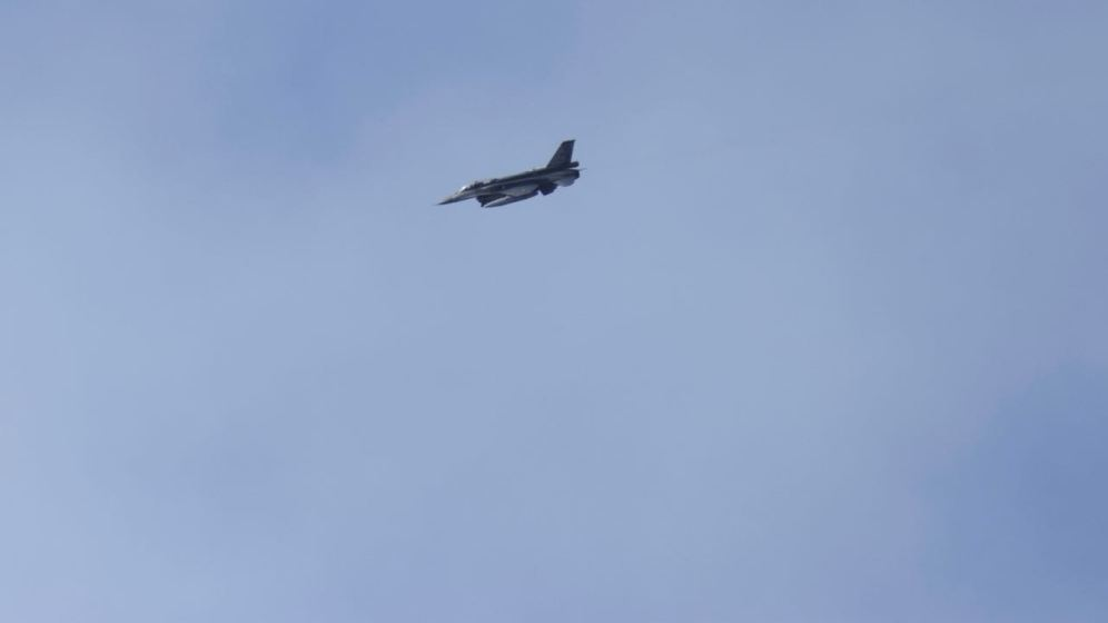 The airforce provide a flypast