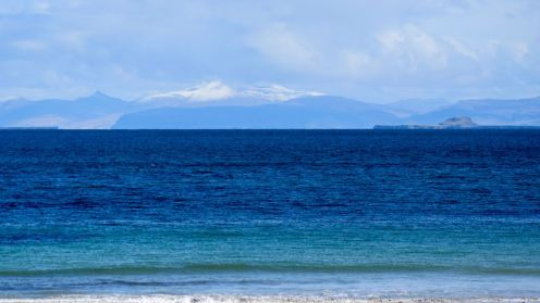 Snow capped Ben More on the Isle of Mull