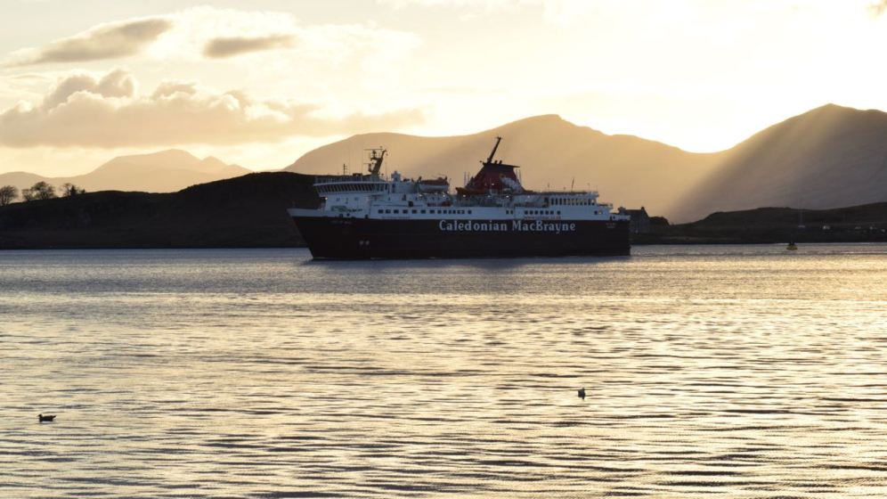 The MV Mull in the majestic setting of Oban Bay