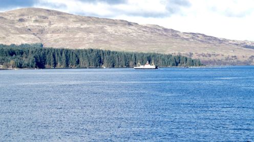 MV Loch Fyne crossing between Lochaline and Fishnish