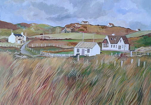 Upper Kilchattan fromport-mor Isle-of-Colonsay by Rosalind Jewell