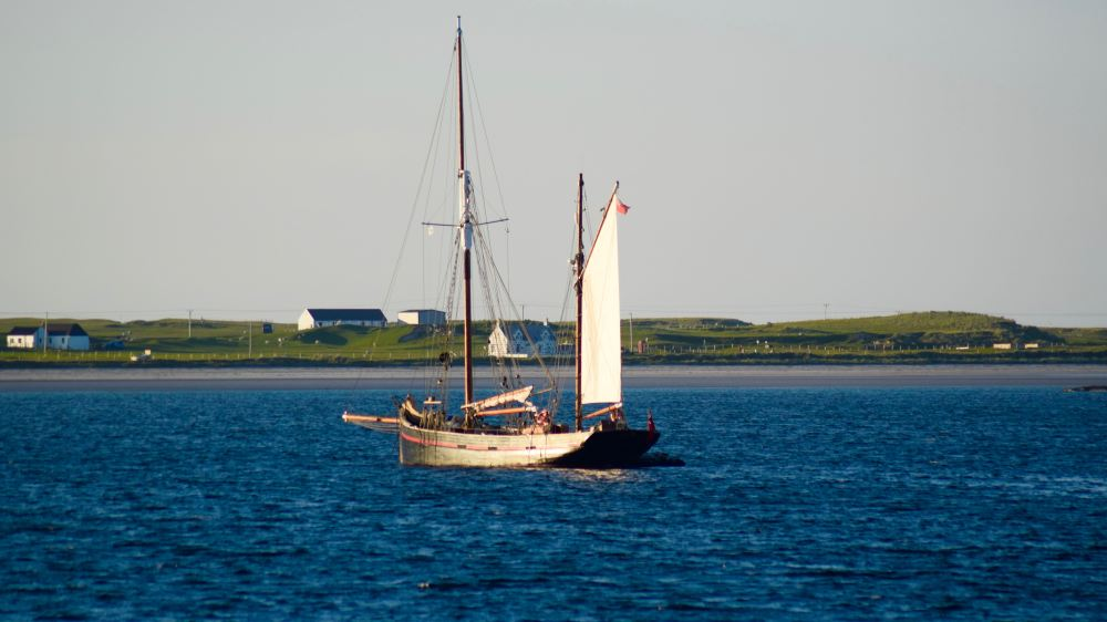 Leader in  Gott Bay, Isle of Tiree