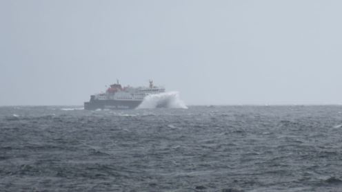 MV Clansman in the Passage of Tiree