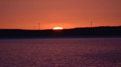 Sunset over Gott Bay
