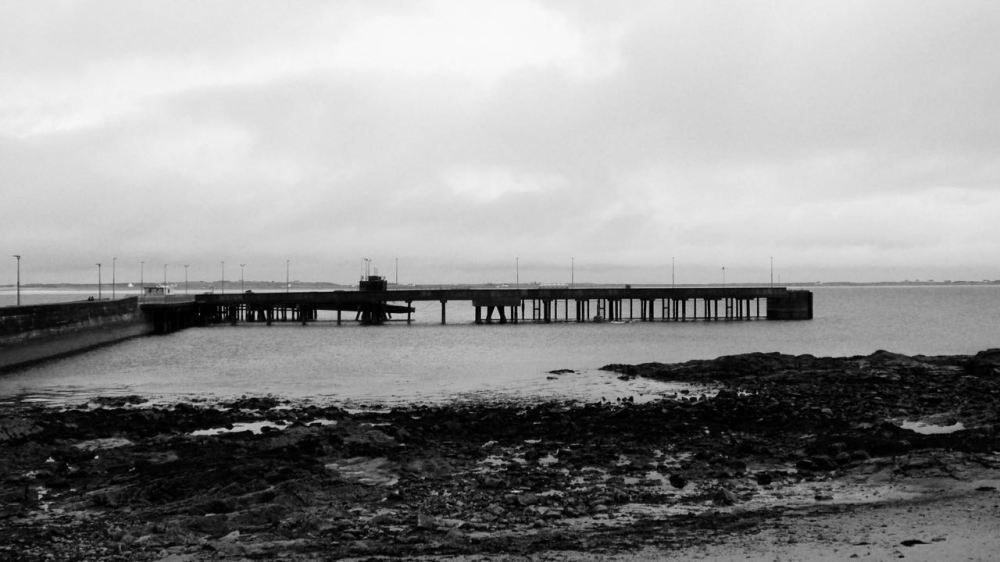An atmospheric view of the pier, Scarinish, Isle of Tiree
